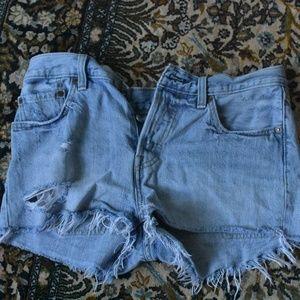 Levi's womens distressed denim shorts